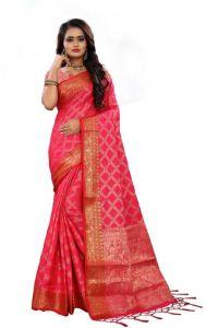 Embellished Kanjivaram Nylon Blend Saree