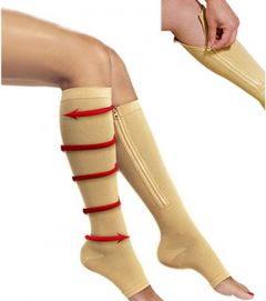 Zip Sox Compression Support Open toe Ankle Length Socks For Workout And injuries Protection