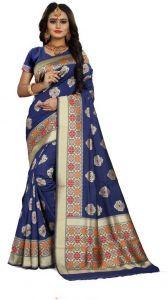 Embellished Venkatagiri Jacquard Saree  (Blue)