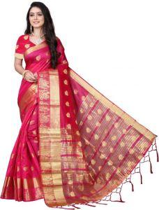 Embellished Banarasi Cotton Silk Saree