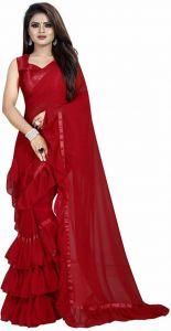 Self Design Bollywood Georgette Saree