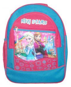 BAGO Super New Stars Frozen School Bag For Girl's & Kid's (Multi-Color) (Pack of 1)