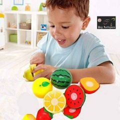 Realistic Sliceable Fruits Cutting Play Kitchen Set (Content: 1 Full Set)