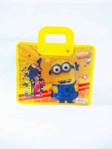Kids Fancy Casual Multi storage Multipurpose Single Compartment Cartoon Print Pvc Plastic Material Bag