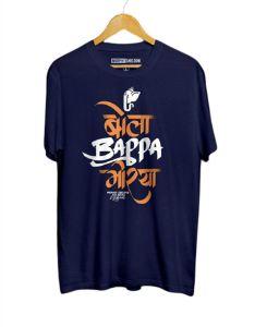 Cotton Panda Ganapati Bappa Morya Graphics Print T-Shirt (Size: Small)