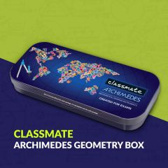 Classmate Archimedes Geometry Box | Die- Cast Compass | Mechanical Pencil | Double sided tray