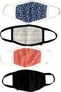 GOOFFI 1 Fashionable & Stylish Cloth Mask (Pack of 4)