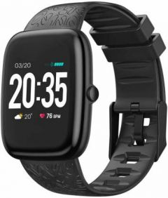 Oraimo OSW-11 Square Dial Full Touch Dynamic Color Display, Multiple Sports Mode, Built-in Oximeter, HR, Sleep Monitor and BP Monitoring Smartwatch (Black)
