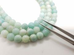 Astrogemsindia Beautiful and Natural Energized Amazonite Crystal Round Shape Gemstone Beads Mala and Bracelet Set Combo for Men's & Women's