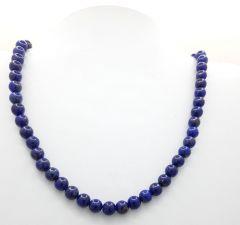 Astrogemsindia Natural AAA Quality Energized Lapis Lazuli Crystal Round Shape Gemstone Necklace Beads Mala for Men's & Women's (Purple)