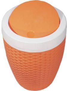 RFL New Stylish Standard Plastic Dustbin For Kitchen, Home & Office (Orange)