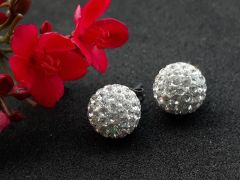 Astrogemsindia Designer and Trendy 92.5 Sterling Silver Big Stone with Mini Crystal Stud Earring For Women & Girls