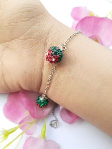 Astrogemsindia Natural and fashionable Multicolor Stone Bracelet with Silver Plated Chain For Women & Girls