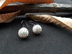 Astrogemsindia Trendy and Fashionable 92.5 Sterling Silver Swarovski with Mini Plated Diamond Earring for Women & Girls