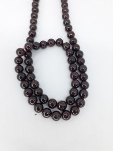 Astrogemsindia Natural AAA Quality Energized Garnet Crystal Round Shape Gemstone Necklace Beads Mala and Bracelet Combo Set for Men's & Women's (Brown)