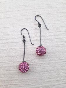 Astrogemsindia Stunning and Fashionable 92.5 Sterling Silver Round Design Swarovski Earring for Women & Girls