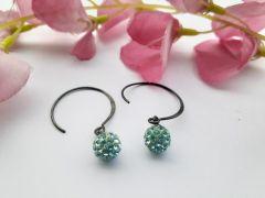 Astrogemsindia Designer and Fashionable 92.5 Sterling Silver Round Swarovski Earring for Women & Girls