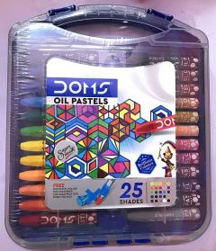 DIKSHA STATIONERY MART Jumbo Oil Pastel 25 Shades Hexagonal Shape Plastic Pack