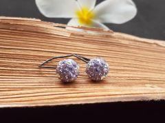 Astrogemsindia Natural and Stunning 92.5 Sterling Silver Round Swarovski Earring for Women & Girls