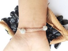 Astrogemsindia Natural and Amazing 92.5 Sterling Silver Bracelet with Silver Chain For Women and Girls