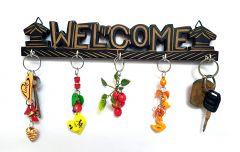 Woodcraftonline Wooden Key Holder Key Hanger (Black)