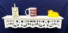 Woodcraft India Decorative & Pooja Wall Shelve Wci 004