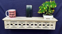 Woodcraft India Decorative & Pooja Wall Shelve, Rectangle Shape Wci 005