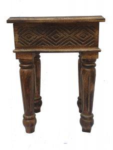 Woodcraft India Soild Wooden Stylish & Morden Side Table (Side Stool 333)