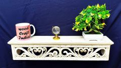 Woodcraft India Decorative & Pooja Wall Shelve, Rectangle Shape Wci 003