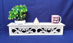 Woodcraft India Stylish Decorative & Pooja MDF Wall Shelve 888
