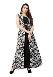 Jashikathaindustries Fashionable Flower Printed Gown Perfect Choice For Women's