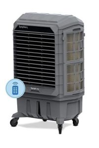 Symphony Movicool XL 200i Commercial Air Cooler with Remote Control | 3 Side Honeycomb Pads | 3 Powerful Speed Fan | Auto Vertical Swing | Low Power Consumption (Grey, 200 Liters)