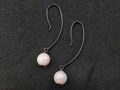 Astrogemsindia Trendy and Fashionable 925 Sterling Silver Natural Color Plated Pearl Earrings For Women's & Girl's