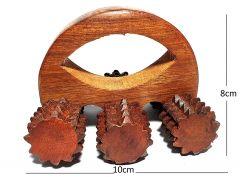Woodcraftonline Wooden Acupressure Six Wheel Body/Foot Massager
