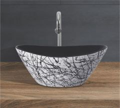 Ceramic Crystal White Wall Mounted Table Top Wash Basin (Dimension L 425 X W 350 X H 175 mm) Glossy Finish|Super White Color