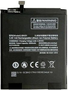 Grand Cell Mobile Battery BN31 For Xiaomi Mi A1 with 3080 mAh Capacity