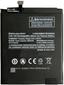 Grand Cell Mobile Battery For Xiaomi Mi A1 with 3080 mAh Capacity