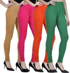 GOOFFI Casual & Fashionable Churidar Legging Pure Cotton & Solid Color