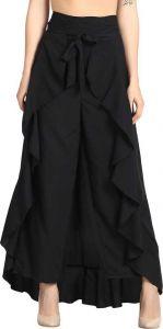 FashionNYou Women's Flared Western Wear Polyester Blend Trousers