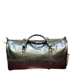 Elegant Exclusives Designer Smoooth Crocodile Leather Duffle Bag | Gym Bag | Travel Tote Bag With Top Handle For Men's and Women's