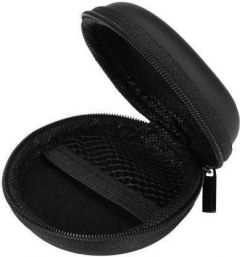 Falcon Leather Round Zipper Pocket Headphone Case (Pack Of 1)