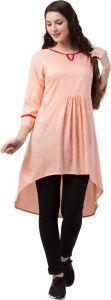 Women'S Key Hole Neck Casual Top - Light Pink