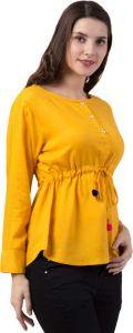 FashionNYou Casual Full Sleeve Solid Women's Regular Top