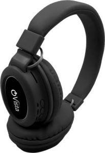 Ovista O-J250BT Stylish Foldable True Wireless Extra Bass On-Ear Headphones with Boom Microphone | Deep Bass | Sweat Proof | Bluetooth Headset (Black)