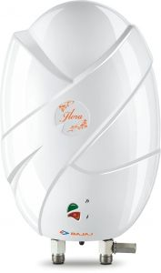 Bajaj Flora 3 Litre Vertical Instant Water Heater with Elegant Body Shell   Instant Water Heater   Thermoplastic Outer Body   Fire Retardant Cable   Suitable for High- Rise Buildings (White)