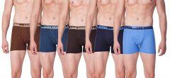 LUX VENUS 100 Percent Cotton Plain Boxers Best For Men's (Pack of 5)