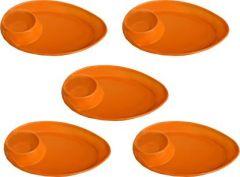 GOOFFI Chip & Dip Tray | Melamine Material | Oval Shap