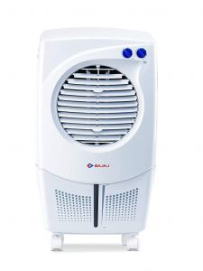 BAJAJ PCF 25DLX Sleek Design and Cooling Redefined Personal Air Cooler with Hexacool Technology | Super Air Delivery | 3 Side Cooler Master | 4 Way Mobility | Speed Control (24 Liters)