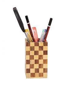 Wooden Pen Stand | Pencil Holder Handmade Rose Wood | Sheesham Fine | Shiny Product