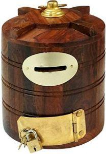 Wooden Money Box Wooden Money Bank Wooden Coin Box Wooden Piggy Box